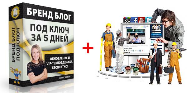 Создание и профессиональная настройка бренд — блога (с нуля за 5 дней) для привлечения покупателей и партнеров и заработка в интернете, а также для создания бренда. Бесплатно и бессрочно: обновления и VIP-техподдержка.
