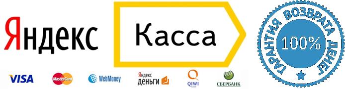 Приём и обработка заказов осуществляется сервисом для приема платежей Яндекс.Касса